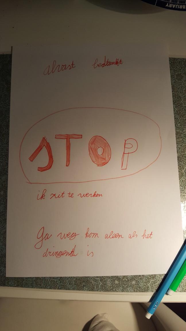 Niet storen poster door Emma Verhoeven