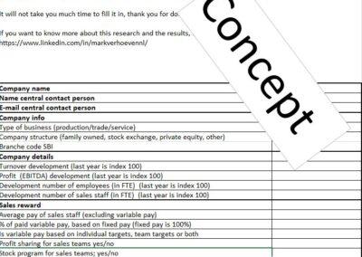 Concept questionair company data